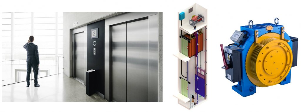 مغناطيس آلة الجر المصعد -1