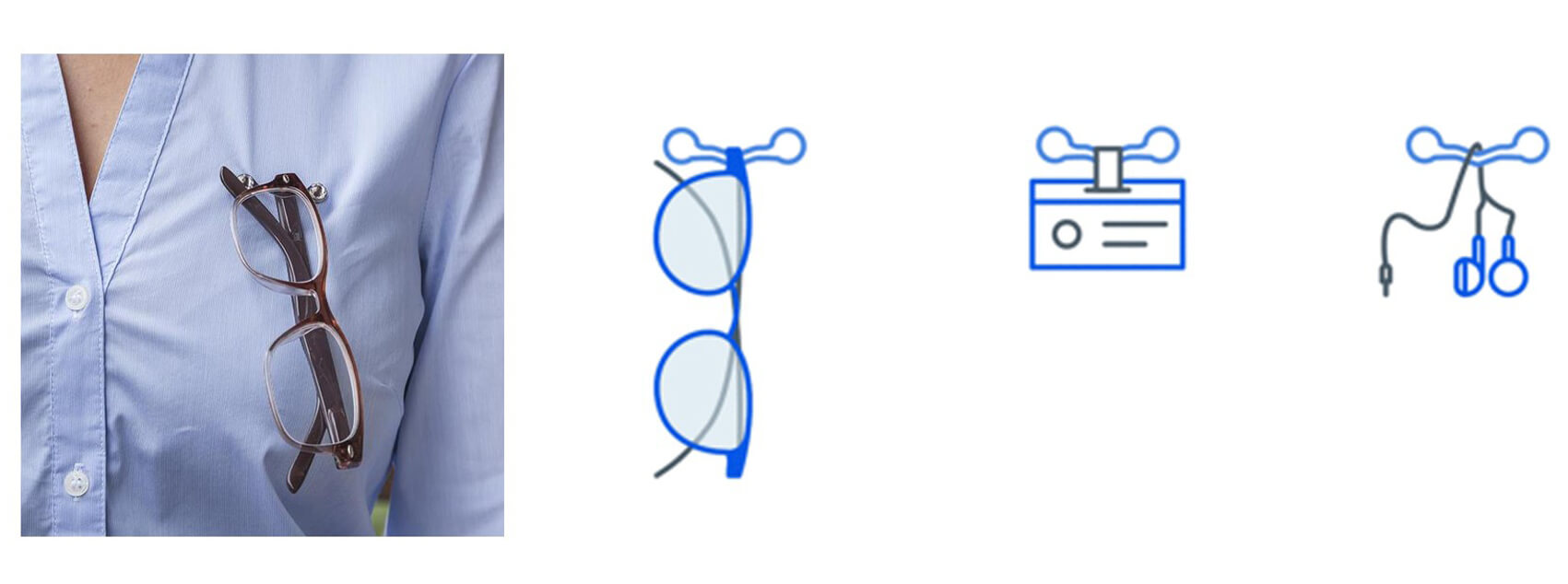 Soportes magnéticos para anteojos-1