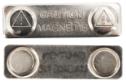 Crachás de nome magnéticos E-1