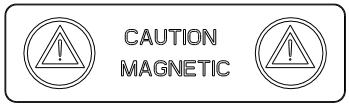 Crachás de nome magnéticos E-2