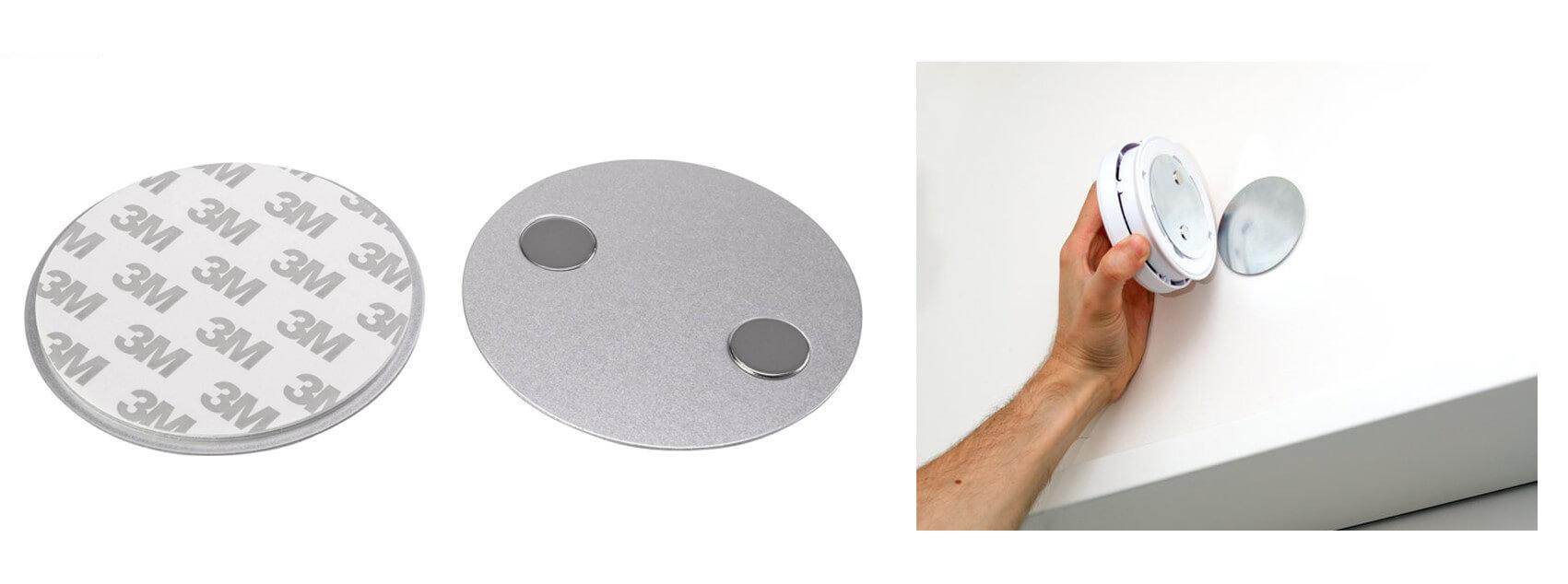 Magnetic Smoke Detector Mount-3