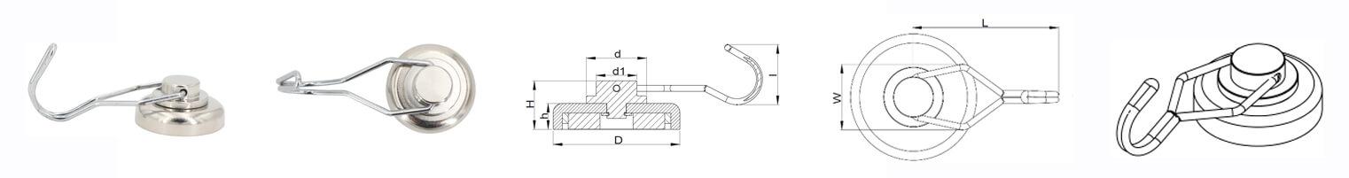 سلسلة مغناطيس جي نيوديميوم بوت