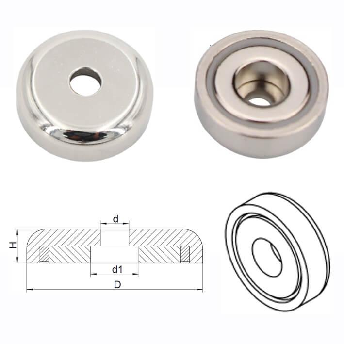 مغناطيس وعاء النيوديميوم- سلسلة ب