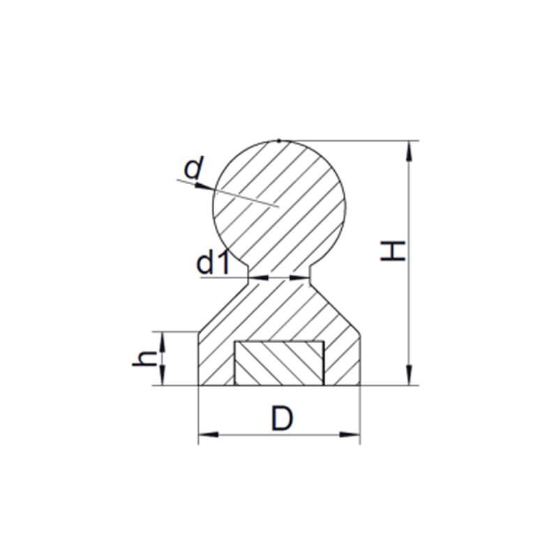 Pines de empuje magnéticos de plástico-2