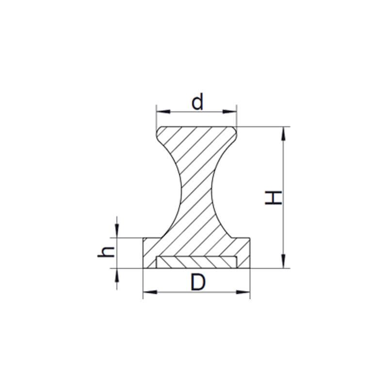 مغناطيس دبوس فضي -2